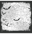 Halloween border for design Bats silhouettes and vector image