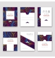 Set of brochures in Lines Pattern Style Beautiful vector image