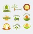 variety of farm logotypes vector image