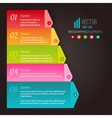 Numbered list of the five colorful elements vector image vector image