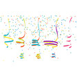 set of abstract flat colorful serpentein ribbons vector image