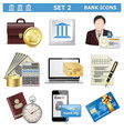 Bank Icons Set 2 vector image vector image