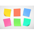 multicolor paper notes post it note vector image