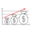 Money Growth Graph vector image vector image