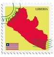 mail to-from Liberia vector image
