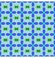 Flower blue seamless pattern vector image