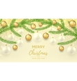 Merry Christmas and Happy New Year gift card vector image
