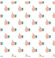 Thumb up gesture pattern cartoon style vector image