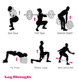 exercise physical muscle silhouette set vector image