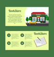 book store horizontal flyers vector image vector image