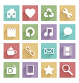 soft media icons set 1 vector image vector image
