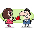 couple in love cartoon vector image vector image