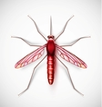 One isolated mosquito eps 10 vector image