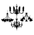 chandelier set vector image vector image