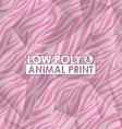 low poly animal print vector image