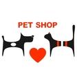 symbol of pet shop vector image