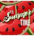 Watermelon Fruit Summer Lettering vector image vector image