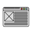 template website isolated icon design vector image