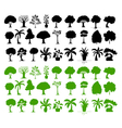 Tree Silhouettes Collection vector image