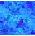 Abstract blue background with triangles vector image