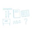 Back to school elements vector image