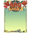 Barbecue background with space for text vector image