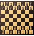 chess desk vector image