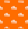 piece of cake pattern seamless vector image