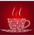 Christmas coffee cup vector image