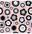 Sewing buttons seamless pattern vector image