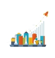 Investment growth Strategy business Investment vector image