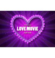 Love movie heart Retro banner vector image