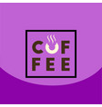 flat icon design collection coffee sign vector image