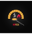 pizza oven design background vector image