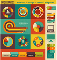Elements and icons of infographics vector image vector image