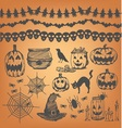 Halloween party design element vector image vector image