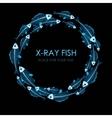 Circle of X-ray fish vector image