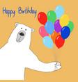 bear-happy-birthday vector image