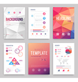 Business flyer set vector image