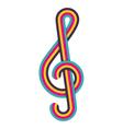 Cmyk treble clef vector image