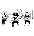 cute doodle pirates with weapon vector image