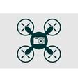 Drone quadrocopter icon Digital camera symbol vector image