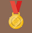 gold medal in flat style vector image