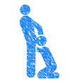 Oral sex gays grunge icon vector image