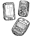 scribble series - mobilephone vector image