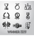 Set of winners handdrawn icons - goblet medal vector image