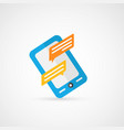 smartphone message vector image