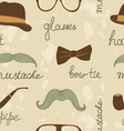 Mustache party pattern vector image vector image