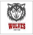 Wolf logo for a sport team vector image