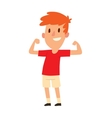 Strong young boy vector image